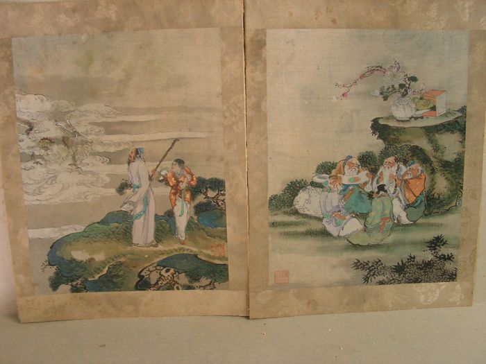 Drawing (2) - Watercolour - China - First half 20th century