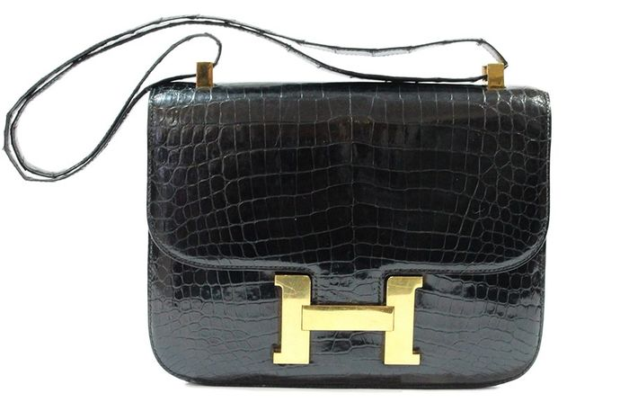 Hermès - Constance Croco  Shoulder bag