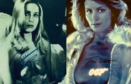 James Bond - Lot of 2 - Toni White (A View To A Kill)  & Priscilla Barnes (Licence to Kill)  - Autograph, Photogrph, Signed with COA