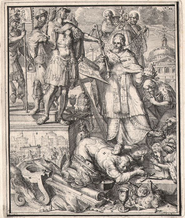 Romeyn de Hooghe (1645-1708) - The power of the church of Rome - Satirical