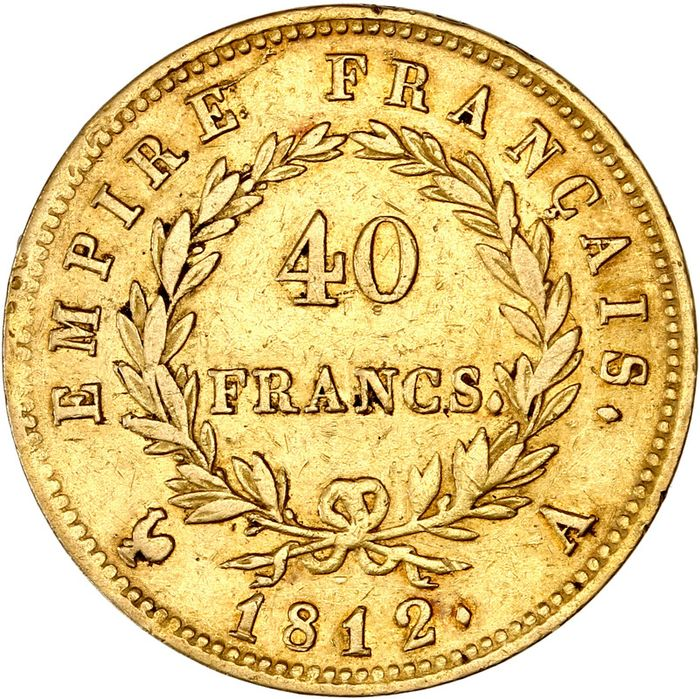 France - Napoléon I - 40 Francs 1812-A (Paris) - Gold