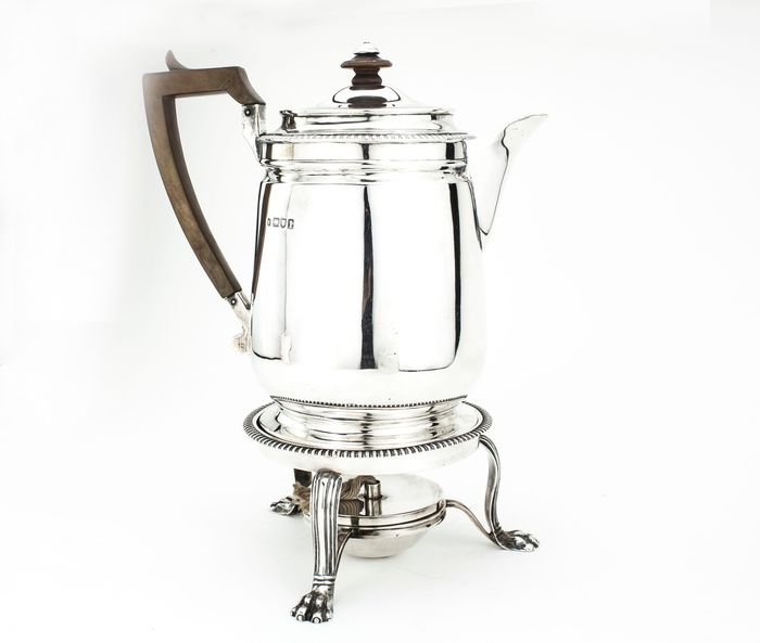 Kettle on stand and burner - .925 silver - Lambert & Co - England - 1906