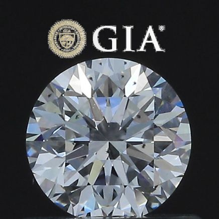 1 pcs Diamond - 0.51 ct - Round - D - VS2