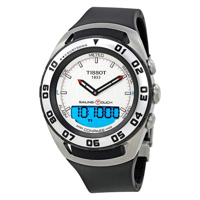 Tissot - Sailing Touch Chronograph Watch Analogue/Digital Dial White Sapphire Crystal Swiss Made - T0564202703100 - Heren - Brand NEW