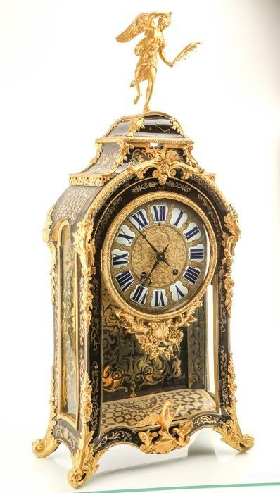 Grote  1e periode boulle / clock (99 cm) - Brons, Hout, Faux schildpad - 18e eeuw