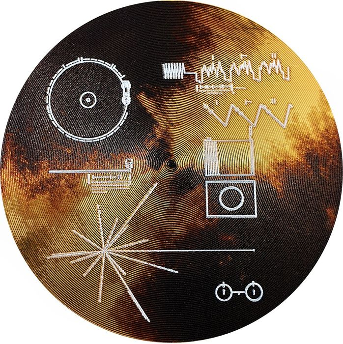 """Cook Islands. 2 Dollars - 2020 - """"VOYAGER GOLDEN RECORD"""" - The Sounds of Earth -  15.57 Gr"""