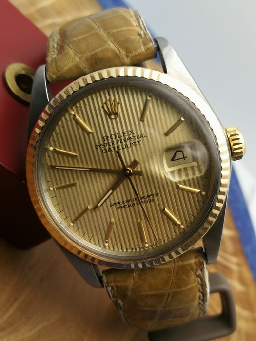 Rolex - Datejust - Tapestry Dial - 16013 - Uomo - 1980-1989