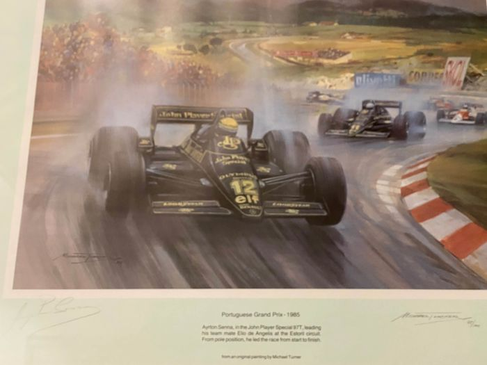 Lotus - Formula One - Ayrton Senna - 1985 - Sports print