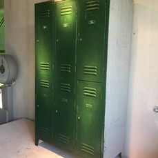 Cabinet, Single block divided into six lockers