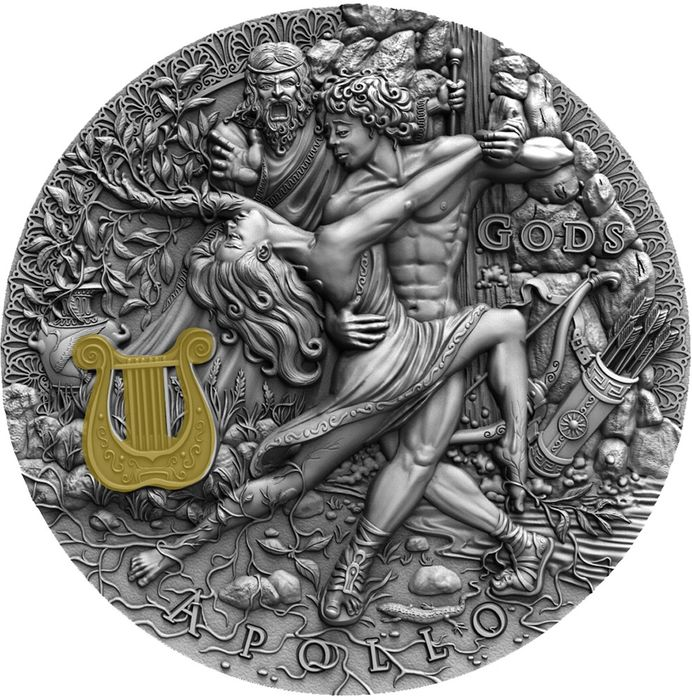 "Niue - 2 Dollar  - 2020 - ""APOLLO "" - Dio del Sole - 2 Oz - Silver"
