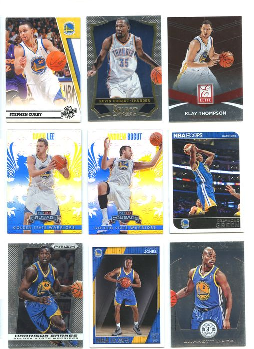 Golden State - NBA Basketbal - Steph Curry - Kevin Durant - Klay Thompson - Sports Cards