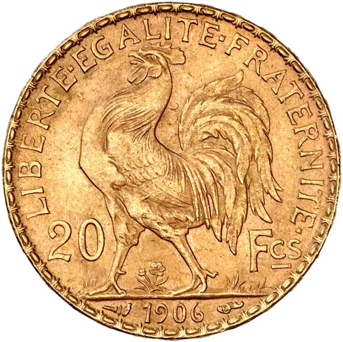 20 Francs 1906 Marianne - Or