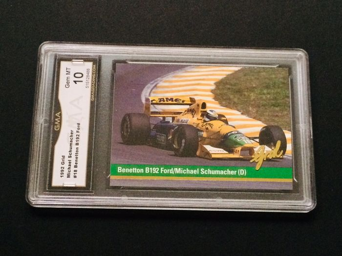 Formula One - Michael Schumacher - 1992 Grid - Rookie Graded Card Perfect 10