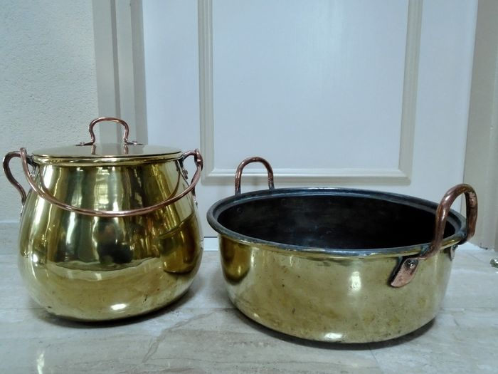 cooking pot and cooking pan - Brass, Copper - 19th century