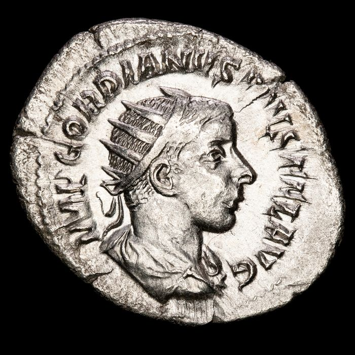Römisches Reich - AR Antoninianus, Gordian III (AD 238-244) - IOVI STATORI, Jupiter with sceptre and thunderbolt.
