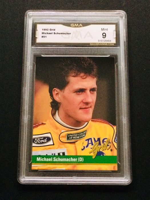 Formel 1 - Michael Schumacher - 1992 Grid - Rookie Graded Card 9