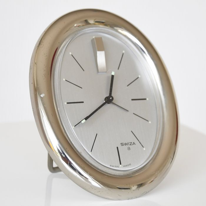Carriage clock - Steel (stainless) - Second half 20th century