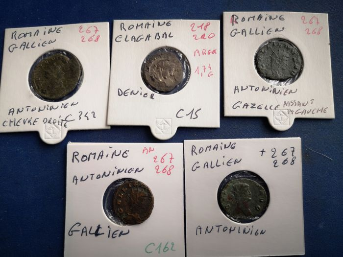 Römisches Reich - Lot comprising 10 AE coins, including several Sestertii, Antoniniani and Folles, 1st-7th century AD