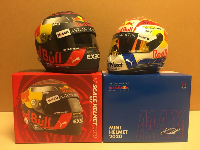 Red Bull Racing / Austria GP - Formula One - Max Verstappen - 1: 2 Scale helmet 2018 & 2020