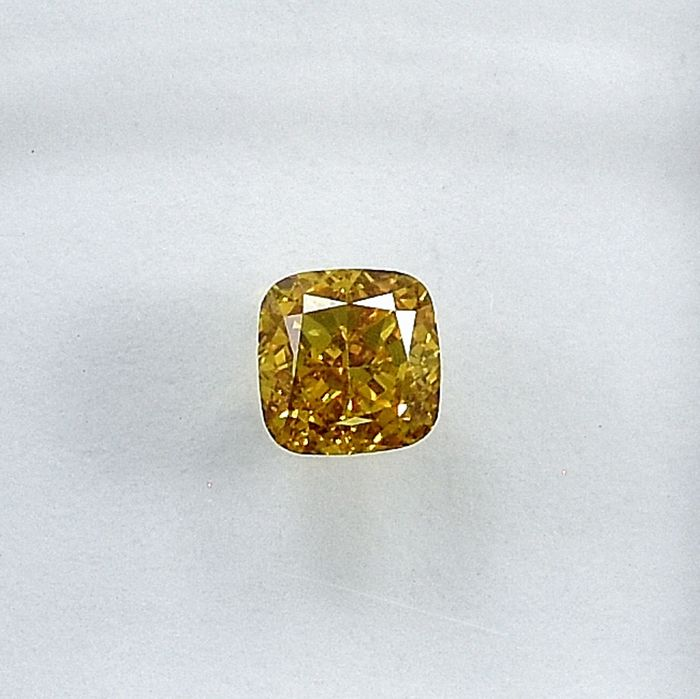 Diamant - 0.28 ct - Coussin - Natural Fancy Yellow - VS1