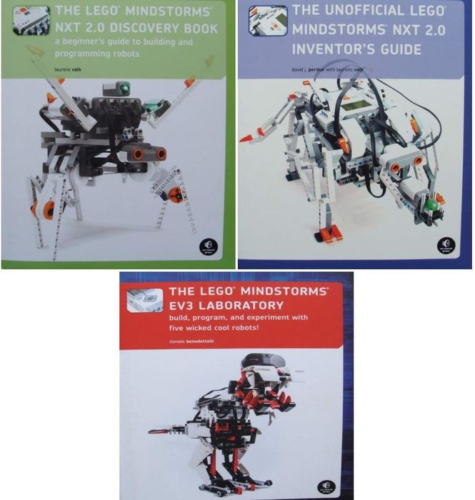 LEGO - 3 Books : The LEGO MINDSTORMS NXT 2.0  +  NXT 2.0 Inventor's Guide  +  EV3 Laboratory - Build, - Buch