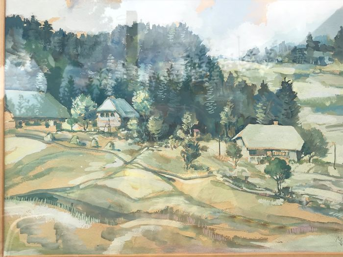 French School (20th Century) - French countryside landscape