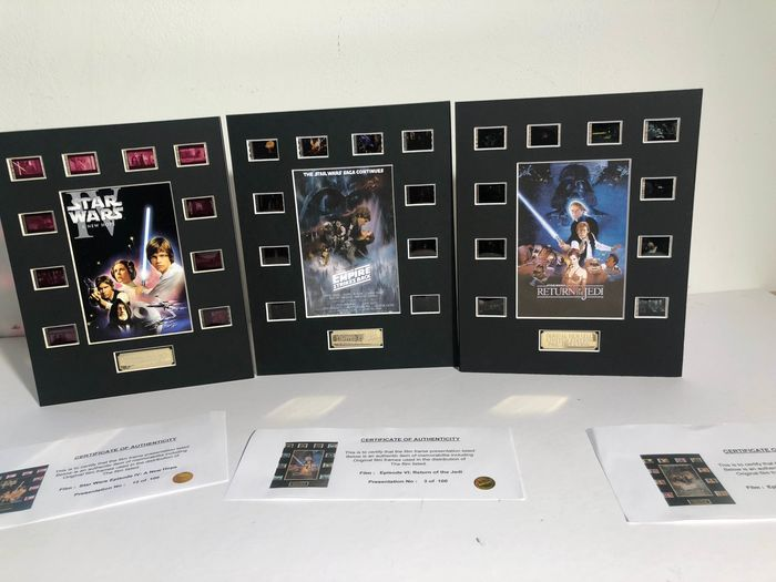 Star Wars - Lot of 3 - Original Trilogy - Film Cell Displays