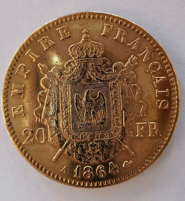 20 Francs 1864 Napoleon III - Or