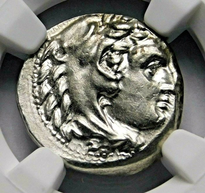 Greece (ancient) - Drachm Alexander the Great (336-323 BC) Lifetime Issue, circa 324/3 BC. Sardes mint. - Silver