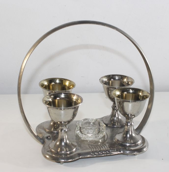 Egg cup set - Silverplate