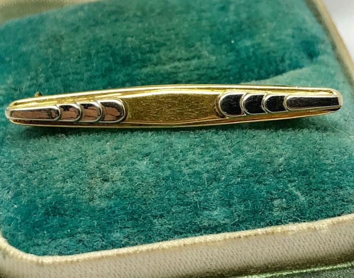 "18 kt. White gold, Yellow gold - Brooch Barrette ""no reserve price"""