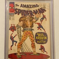 "Amazing Spider-man #47 - CGC 8.0 - App of Kraven - ""In the Hands of the Hunter"" - Broché - EO - (1967)"