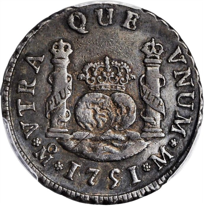 1751/41-Mo M. Mexico City Mint. Ferdinand VI.