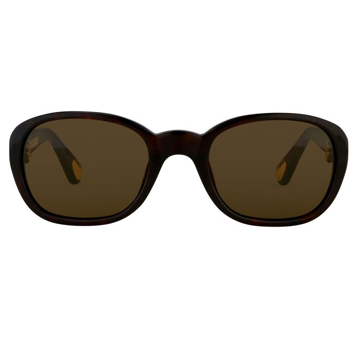 """Ann Demeulemeester - Oval Tortoise Shell 925 Silver with Brown Lenses Category 3 AD8C4SUN """"NO RESERVE PRICE"""" Sunglasses"""