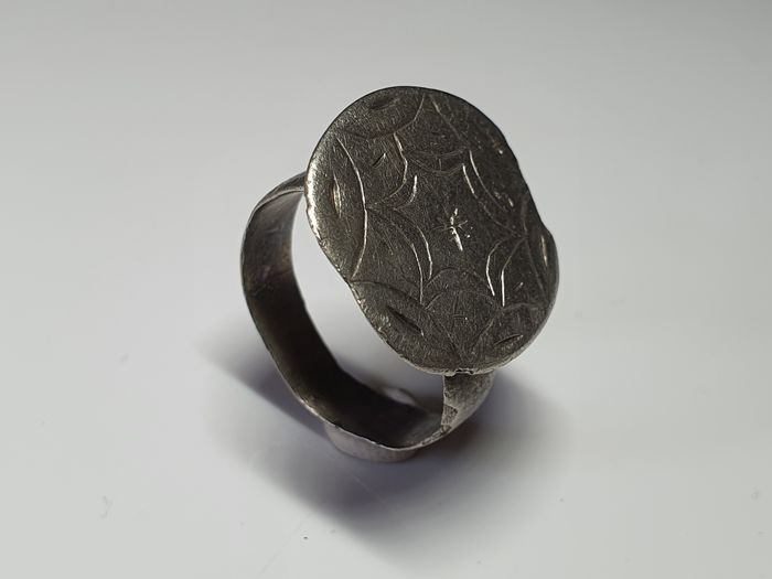Medieval Silver Ring with  Star design