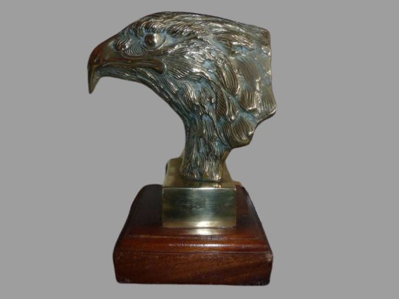 Solid Brass Golden Eagle Head