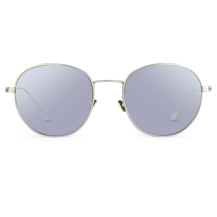 """Ann Demeulemeester - Oval 925 Silver Titanium with Silver Lenses AD28C2SUN """"NO RESERVE PRICE"""" Sunglasses"""