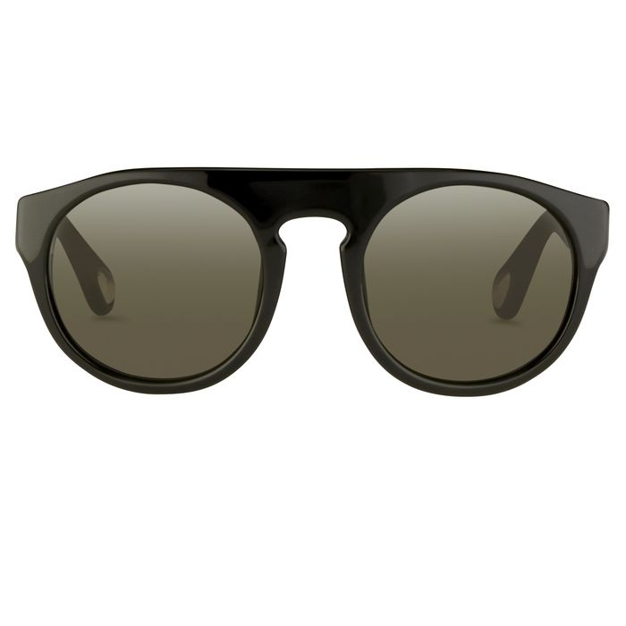 "Ann Demeulemeester - Flat Top Black 925 Silver with Grey Lenses Category 3 AD10C1SUN ""NO RESERVE PRICE"" Sunglasses"