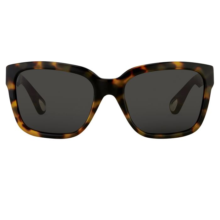 """Ann Demeulemeester - D-Frame Tortoise Shell 925 Silver with Grey Lenses Category 3 AD9C2SUN """"NO RESERVE PRICE"""" Sunglasses"""