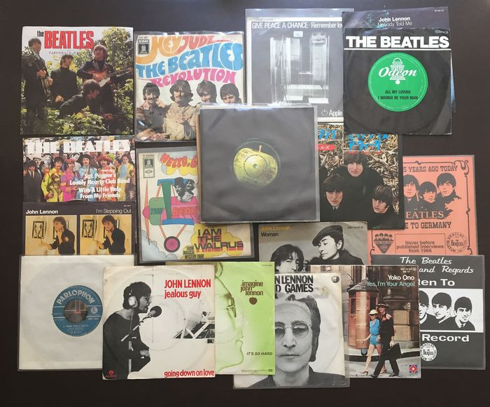 Beatles & Related, John Lennon, Yoko Ono - Multiple titles - 45 rpm Single - 1990/1965