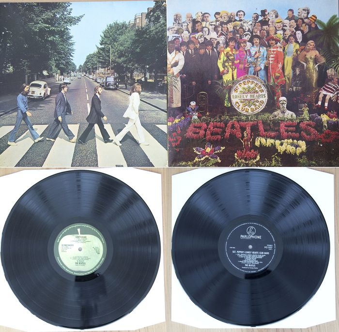 Beatles - Abbey Road, Sergeant Pepper's Lonely Hearts Club Band - Multiple titles - LP's - 1967/1969