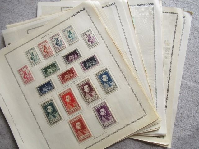 Kambodscha - Almost complete collection of stamps