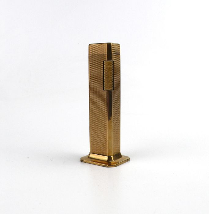 DUNHILL TALLBOY - Table lighter - Gold plated- England
