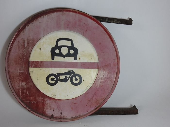 Traffic sign - France Nice - 1950-1960