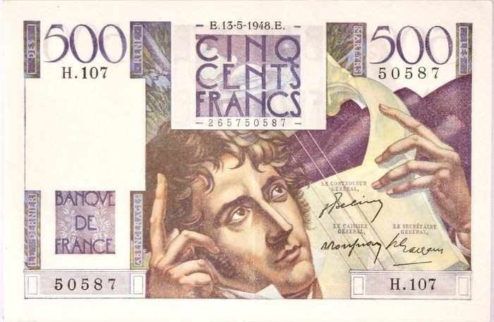 France - 500 Francs 13-05-1948 - Chateaubriand - Fayette 34-08