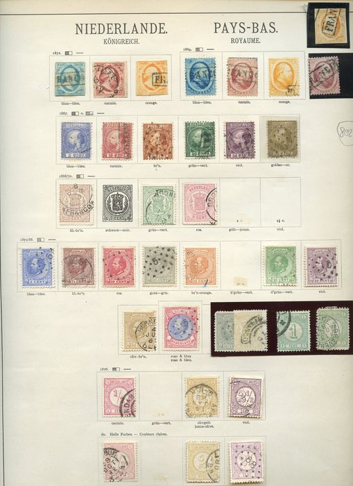 Niederlande und Luxemburg 1852/1944 - Stamps of the period on pre-printed sheets