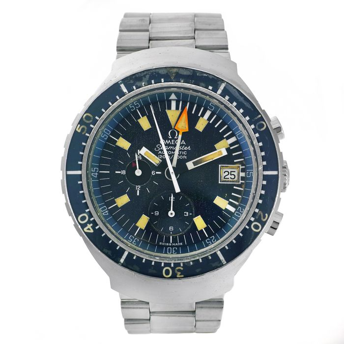 Omega - Seamaster Automatic 120 'Big Blue' - 2 Years Official Warranty - Ref. 176.004 - Men - 1970-1979