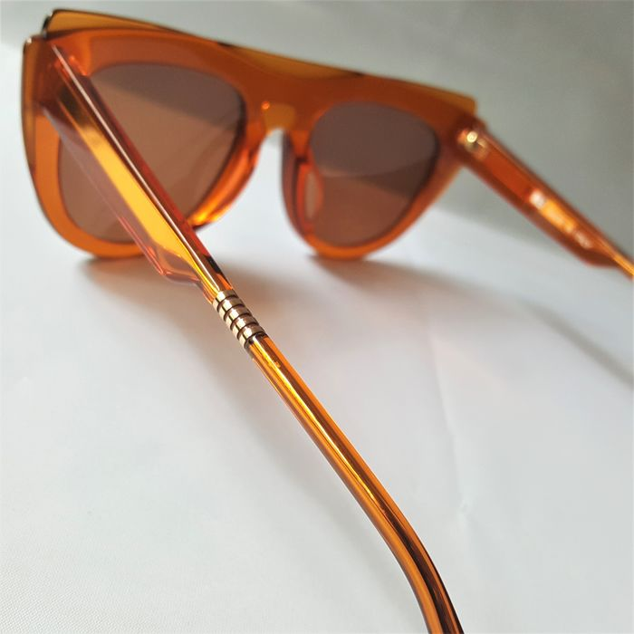 ill.i Optics by Will.i.am - Gold Brown Orange Double Frame - 2020 - Made in Italy - New Sunglasses