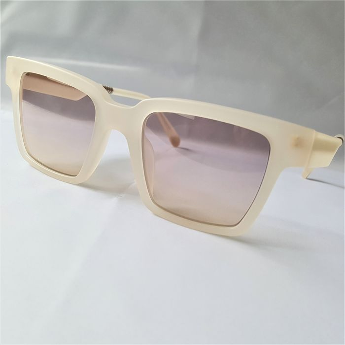 ill.i Optics by Will.i.am - Square White Beige Gold Double Frame - 2020 - Made in Italy - New Sunglasses