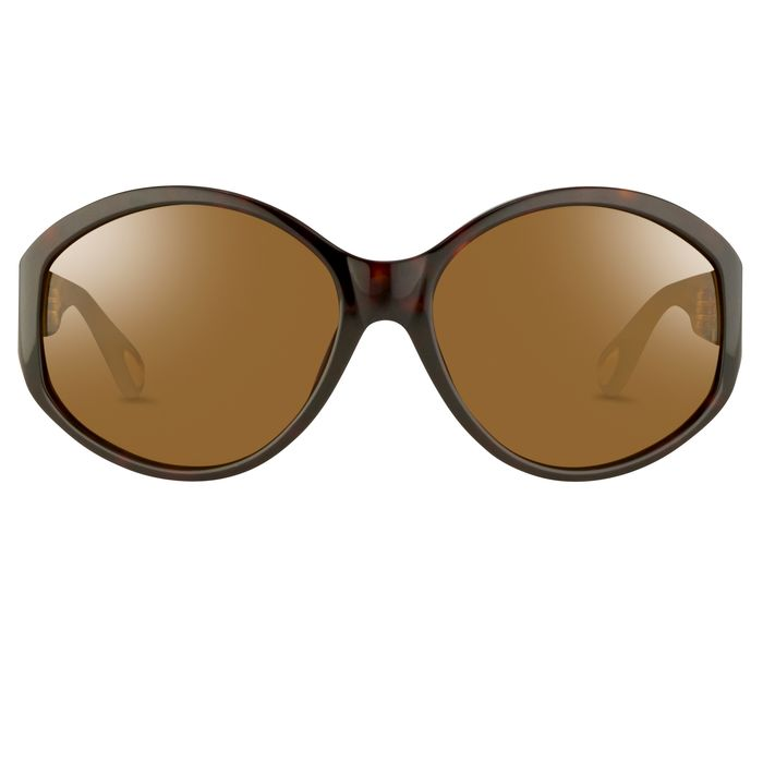 "Ann Demeulemeester - Oversized Tortoise Shell 925 Silver with Brown Lenses Category 3 AD6C4SUN ""NO RESERVE PRICE"" Sunglasses"
